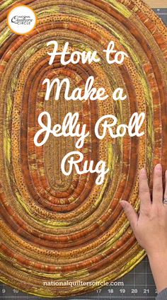 """A jelly roll rug is a fun and easy project to make from 2 ½"""" pre-cut quilting fabric strips, known as jelly rolls. Ashley Hough shows you how in this jelly roll rug tutorial. Quilting Tips, Quilting Fabric, Quilting Tutorials, Machine Quilting, Quilting Projects, Quilting Designs, Sewing Projects For Kids, Sewing Crafts, Diy Crafts Instructions"""
