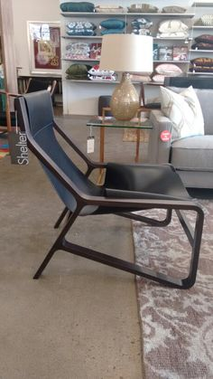 Toro Lounge Chair! #whatsnew #bludot #caledoniadesigndistrict #lounge #leather #torontodesign #millenialstyle #homedecor