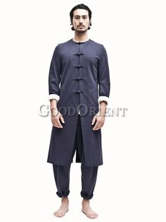 Clasical tang style dark blue long gown