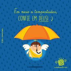 Em meio a tempestades, confie em Deus!   Conheça o Coisa de Santo e ajude-nos a evangelizar com amor e criatividade.