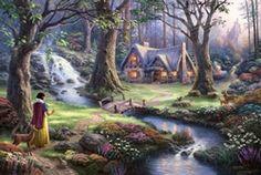 Snow White Discovers Cottage by Thomas Kinkaid
