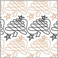 Christmas Doodle Trees - Digital - Quilts Complete - Continuous Line Quilting Patterns by amie Quilting Stencils, Quilting Templates, Longarm Quilting, Free Motion Quilting, Quilting Projects, Quilting Ideas, Hand Quilting, Quilting Stitch Patterns, Machine Quilting Patterns