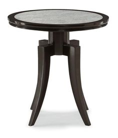 Ebony Finish Antique Mirror End Table , Bed Down Furniture Atlanta