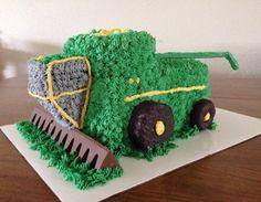 John Deere Combine Harvester Cake