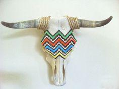 Chevron, Cow Skull, Home Decor, Wall Art, Mosaic, Free US Shipping. $400.00, via Etsy. @Rene Gibson