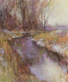 Winter's Marks by Richard McKinley Pastel ~ 18 x 14
