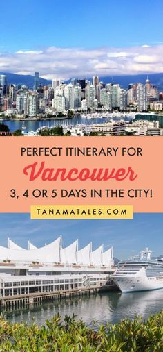Things to do in #Vancouver, #Canada – Travel tips and vacation ideas – Vancouver is one of the most beautiful cities in the world! My itinerary for 3, 4 or 5 days will take you to the best spots in the city. Get ready to visit Canada Place, Gastown, Stanley Park, Chinatown, Granville Island, Yaletown, Grouse Mountain the Museum of Anthropology, the VanDusen Garden and more! In additions, I have recommendation on day trips and restaurants (tons of sushi places). #BritishColumbia