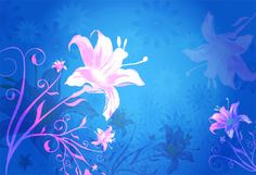 Blue Pink Soft Floral Vector Background - http://www.welovesolo.com/blue-pink-soft-floral-vector-background/