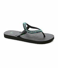 5bf4afdfcff1 Sanuk Womens Ibiza Native Sandals rubber seafoam black NA