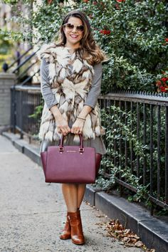 Olivia Jeanette from Corporate Catwalk with the Michael Kors Selma bag. New York City, October 2013