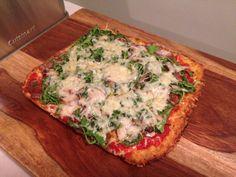 Grain-Free Cauliflower Pizza Crust With Aged Parmesan Cheese
