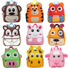 b2ad73b62b6 Toddler Kid Children Boy Girl 3D Cartoon Animal Backpack School Bag  Kindergarten