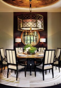 CONTEMPORARY DINING ROOM BY JEAN-LOUIS DENIOT  Jean-Louis Deniot conceived many of the furnishings throughout the New Delhi residence he des...