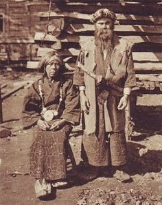 Ainu man and woman from Hokkaido