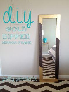 DIY gold-dipped mirror frame