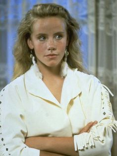 """""""You guys, it's no big deal. Bobby sent it to me from Iowa. You know they have fine leathers down there. 80s Movies, Film Movie, 80s Fashion, I Love Fashion, Can't Buy Me Love, My Love, Amanda Peterson, Beautiful Freckles, Teen Witch"""