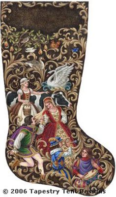 12 Days of Christmas Needlepoint Stocking
