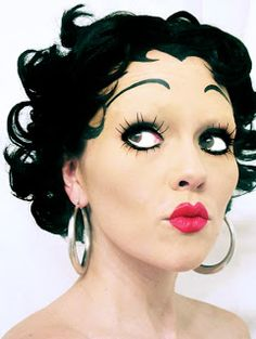 Betty Boop hair and makeup idea