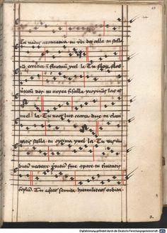Cantionale, Geistliche Lieder mit Melodien. Münchner Marienklage Tegernsee, 3. Drittel 15. Jh. Cgm 716  Folio 43