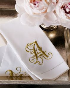 Bed and Breakfast ~ French Madame, lovely monogrammed linen towels