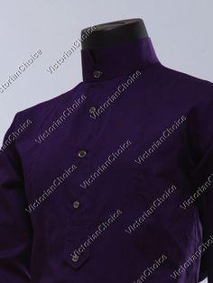 c7b971b331 Mens Men Victorian Edwardian Frontier Dress Shirt Steampunk Old West Punk  BM301