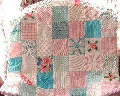 Adorable Princess Vintage Chenille Quilt  by AlorasAdorables, $164.50