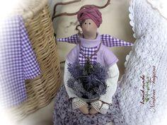 Купить Прованс...Пора собирать лаванду :) Тильда Ангел в стиле бохо-шик в интернет магазине на Ярмарке Мастеров