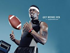 Micheal Vick was a common attraction in commercials at one point before the Dog Fighting issues. Remember the 'Micheal Vick Experience' with Nike.  Dweet
