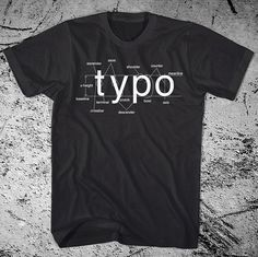 Typography Shirt Helvetica Font Sans Serif by iheartanalogue, $21.00