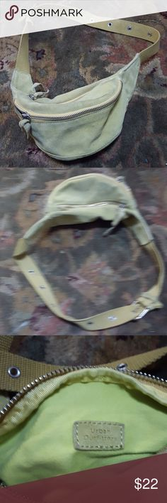 Urban Outfitters fanny pack Great condition Lime green seude fanny pack by Urban Outfitters Urban Outfitters Bags Crossbody Bags
