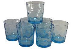 Blue Rocks Glasses, S/7 on OneKingsLane.com