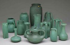 Teco Pottery (1899-1917) - Matte Green Glazed Pottery. Chicago, Illinois.