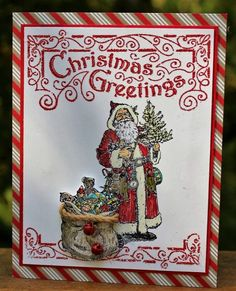 Stampin' Up! Father Christmas, Wacky Watercooler August Blog Hop