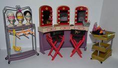 Barbie My Scene Goes Hollywood Dressing Room Light Up Vanity Directors Chairs | eBay