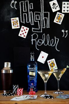 """The High Roller Martini ~ the perfect transition to the cooler months, cocktail. Pinnacle® Vodka is smooth as silk to drink…and when added to the """"High Roller"""" Martini recipe, it's the ideal libation to sip on through the rest of fall.  Recipe on dineanddish.net"""