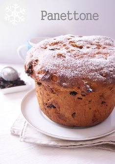 Panettone Dessert Recipes, Desserts, Favorite Holiday, Holiday Recipes, Vegetarian Recipes, Bakery, Muffin, Veggies, Breakfast