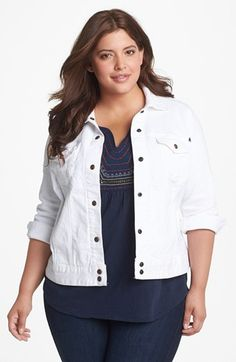 Lucky Brand 'Adelaide' Denim Jacket (Plus) available at #Nordstrom