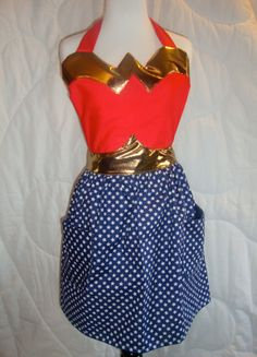 Wonder Woman Apron by Bethany Sew-and-Sew!  What I'll need in my ideal kitchen! ;)   #cultivateit