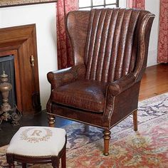 Croco Wing Chair | King Ranch/OLD HICKORY TANNERY MANFACTURER