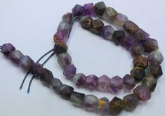 370CTS-1 STRAND FLUORITE BEADS 16 INCH + CLASP