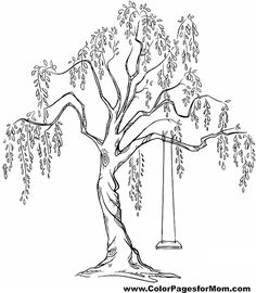 tree coloring page 17 Not so Secret because I cant change the