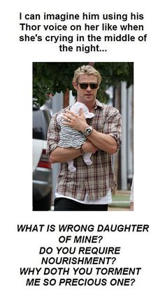 Daddy Thor. I know I already posted these words but this picture is so much cuter