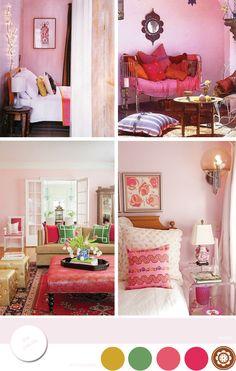 Espacios Bohemios Con Rosa Pastel