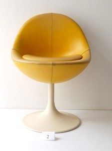 1960s SPACE AGE BORJE JOHANSON VENUS BALL EGG CHAIR SAARINEN ERA
