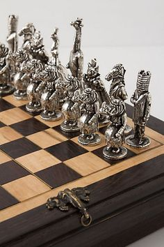 Mid Century Modern Inspired Steel Modular Tubing Chess Set