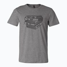 Our super soft unisex t-shirts looks great on both men and women and fit like a well-loved favourite. Made from combed and ring-spun cotton poly View sizing chart Spun Cotton, Looks Great, Chart, Unisex, Ring, Tees, Books, Mens Tops, T Shirt