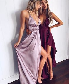 long prom dresses Classy Sherri Hill Dreamy evenings in these beautiful dresses Get Closer dress (in burgundy and lilac) www muraboutique com au muraboutique Lavender Prom Dresses, Silk Bridesmaid Dresses, V Neck Prom Dresses, Ball Dresses, Evening Dresses, Lilac Dress Long, Long Silk Dress, Plum Evening Dress, Purple Prom Dresses