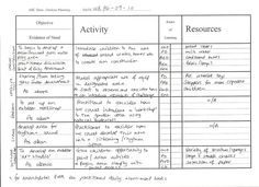 Example of completed eyfs objective led planning for Early years lesson plan template