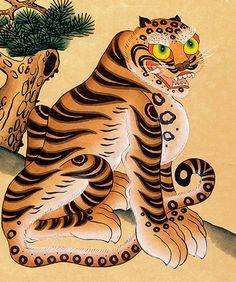 Korean fierce horangi tiger