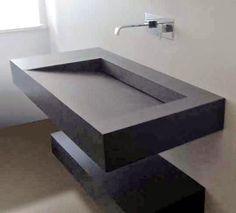 Bathroom washbasin and sink Bathroom Design Layout, Sink Design, Modern Bathroom Design, Bathroom Interior Design, Bathroom Cost, Stone Bathroom, Small Bathroom, Minimalist House Design, Minimalist Decor